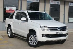 2013 Volkswagen Amarok 2H MY13 TDI400 Highline (4x4) White 6 Speed Manual Dual Cab Utility Blacktown Blacktown Area Preview