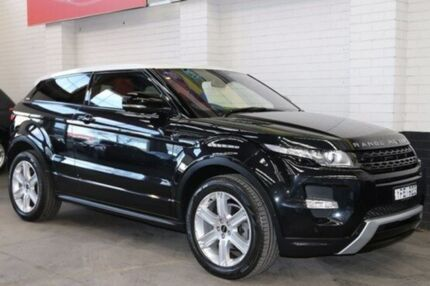 2011 Land Rover Range Rover Evoque L538 MY12 Si4 Coupe CommandShift Dynamic Sumatra Black 6 Speed Sp Southbank Melbourne City Preview