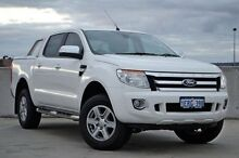 2014 Ford Ranger PX XLT Double Cab White 6 Speed Sports Automatic Utility Midland Swan Area Preview