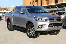 2015 Toyota Hilux GUN126R SR5 Double Cab Silver Sky 6 Speed Manual Utility Northbridge Perth City Preview