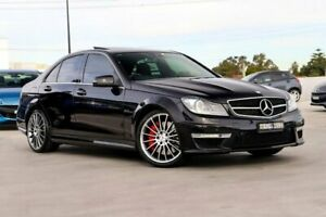2012 Mercedes-Benz C63 W204 MY12 AMG SPEEDSHIFT MCT Performance Package Plus Black 7 Speed Liverpool Liverpool Area Preview