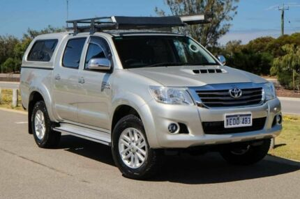 2014 Toyota Hilux KUN26R MY14 SR5 Double Cab Sterling Silver 5 Speed Manual Utility