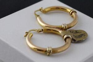 NEW UNO ERRE DESIGNER ITALIAN GOLD HOOP EARRINGS FOR SALE