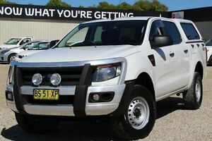 2012 Ford Ranger PX XL 2.2 (4x4) White 6 Speed Manual Crewcab Windradyne Bathurst City Preview