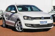 2012 Volkswagen Polo 6R MY12.5 77TSI DSG Comfortline White 7 Speed Sports Automatic Dual Clutch East Rockingham Rockingham Area Preview