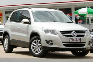 2010 Volkswagen Tiguan 5N MY11 103TDI DSG 4MOTION Silver 7 Speed Sports Automatic Dual Clutch Wagon Woolloongabba Brisbane South West Preview
