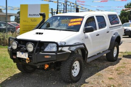 2010 Toyota Hilux D-4D SR White 4 Speed Automatic Dual Cab Delacombe Ballarat City Preview