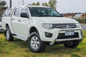 2014 Mitsubishi Triton MN MY15 GLX Double Cab White 4 Speed Sports Automatic Utility Wangara Wanneroo Area Preview