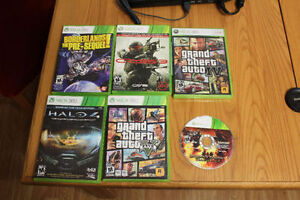 xbox 360+ 2 controllers + games