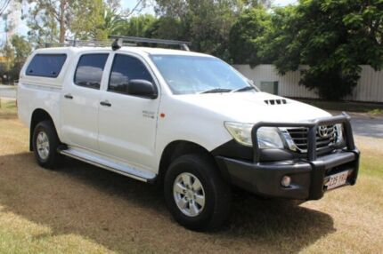 2012 Toyota Hilux KUN26R MY12 SR Double Cab White 5 Speed Manual Utility Ormeau Gold Coast North Preview