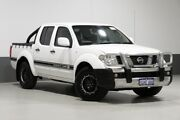 2012 Nissan Navara D40 MY12 RX (4x4) White 6 Speed Manual Dual Cab Pick-up Bentley Canning Area Preview