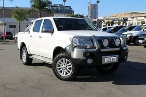 2013 Toyota Hilux GGN25R MY12 SR5 Double Cab White 5 Speed Automatic Utility Northbridge Perth City Area Preview