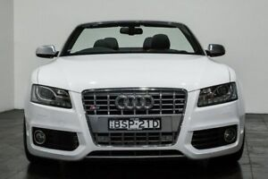 2010 Audi S5 8T MY10 S tronic quattro White 7 Speed Sports Automatic Dual Clutch Cabriolet