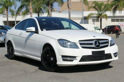 2015 Mercedes-Benz C250 C204 MY14 7G-Tronic + Diamond White Bright 7 Speed Sports Automatic Coupe Northbridge Perth City Area Preview