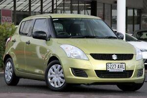 2012 Suzuki Swift FZ GL Citrus Yellow 4 Speed Automatic Hatchback Christies Beach Morphett Vale Area Preview
