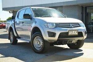 2010 Mitsubishi Triton MN MY10 GLX Double Cab Silver 5 Speed Manual Utility Hillcrest Port Adelaide Area Preview