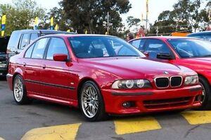 2002 BMW 525i E39 MY02 Sport Steptronic Red 5 Speed Sports Automatic Sedan Ringwood East Maroondah Area Preview