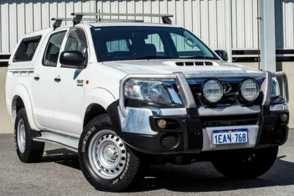 2012 Toyota Hilux KUN26R MY12 SR (4x4) White 4 Speed Automatic Dual Cab Pick-up Cannington Canning Area Preview