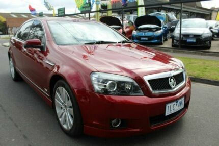 2009 Holden Caprice WM MY09.5 Red 6 Speed Sports Automatic Sedan