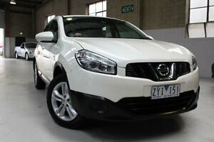 2013 Nissan Dualis J10W Series 3 ST White Constant Variable Hatchback Knoxfield Knox Area Preview