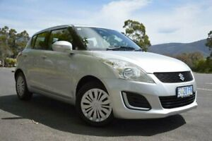 2015 Suzuki Swift FZ MY15 GL Silver 5 Speed Manual Hatchback Derwent Park Glenorchy Area Preview