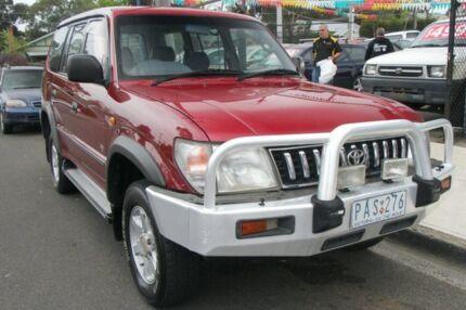 1998 Toyota Landcruiser Prado World Cup (4x4) Burgundy 5 Speed Manual 4x4 Wagon