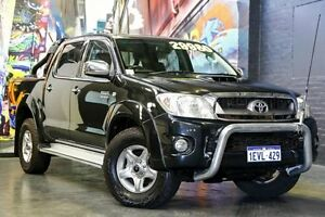 2010 Toyota Hilux KUN26R MY10 SR5 Black 4 Speed Automatic Utility Northbridge Perth City Area Preview