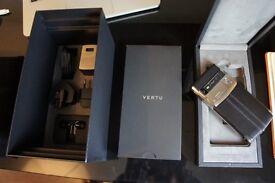 100% Genuine Vertu Signature Touch Black Calfskin - Full receipt included