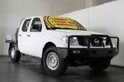 2010 Nissan Navara D22 MY08 DX (4x2) White 5 Speed Manual Cab Chassis Underwood Logan Area Preview
