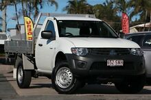 2012 Mitsubishi Triton MN MY12 GL White 5 Speed Manual Cab Chassis Kippa-ring Redcliffe Area Preview