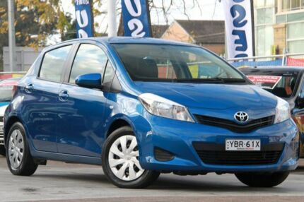 2013 Toyota Yaris NCP131R YRS Blue 4 Speed Automatic Hatchback Waitara Hornsby Area Preview