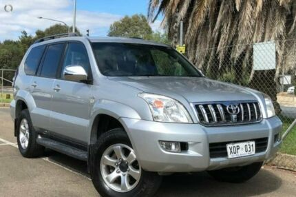 2007 Toyota Landcruiser Prado KDJ120R VX Silver 5 Speed Automatic Wagon Mawson Lakes Salisbury Area Preview