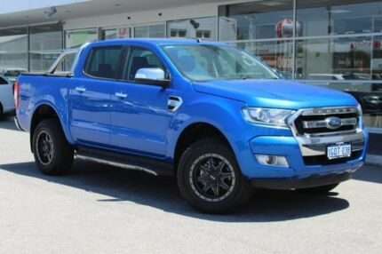 2017 Ford Ranger PX MkII 2018.00MY XLT Double Cab Blue 6 Speed Sports Automatic Utility Osborne Park Stirling Area Preview