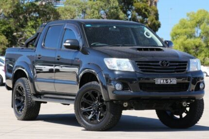 2012 Toyota Hilux KUN26R MY12 SR5 (4x4) Black 4 Speed Automatic Dual Cab Pick-up