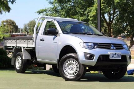 2014 Mitsubishi Triton MN MY15 GL Silver 5 Speed Manual Cab Chassis