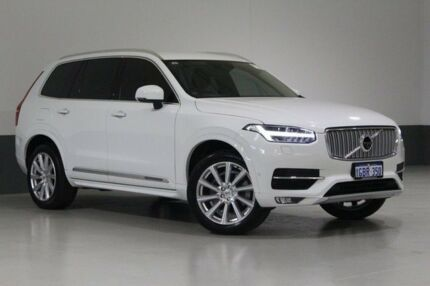2016 Volvo XC90 256 MY17 T6 Inscription White 8 Speed Automatic Geartronic Wagon Bentley Canning Area Preview