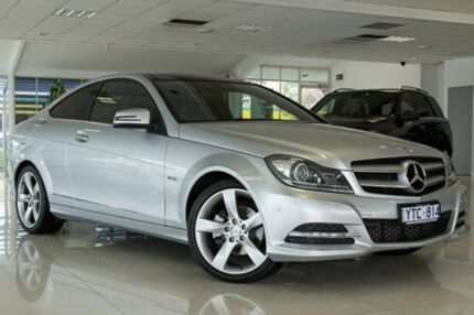 2011 Mercedes-Benz C250 C204 BlueEFFICIENCY 7G-Tronic + Silver 7 Speed Sports Automatic Coupe