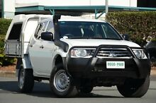 2011 Mitsubishi Triton MN MY12 GLX Double Cab White 5 Speed Manual Utility Acacia Ridge Brisbane South West Preview