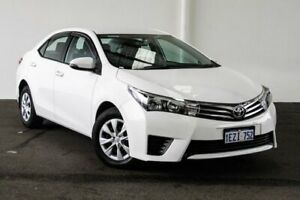 2016 Toyota Corolla ZRE172R Ascent S-CVT Glacier White 7 Speed Constant Variable Sedan Myaree Melville Area Preview