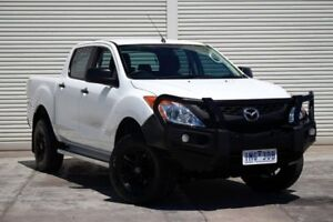 2014 Mazda BT-50 UP0YF1 XT 4x2 Hi-Rider White 6 Speed Manual Utility