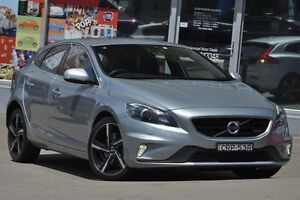 2014 Volvo V40 M T5 R-Design Silver 6 Speed Automatic Hatchback Dee Why Manly Area Preview