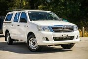 2014 Toyota Hilux GGN15R MY14 SR Double Cab 4x2 White 5 Speed Automatic Utility Aspley Brisbane North East Preview