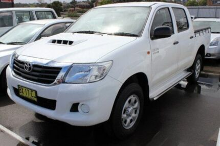 2013 Toyota Hilux KUN26R MY12 SR (4x4) White 4 Speed Automatic Utility Cardiff Lake Macquarie Area Preview