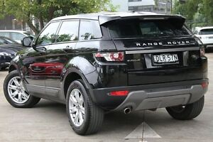 2013 Land Rover Evoque LV TD4 Pure Black 6 Speed Automatic Wagon Petersham Marrickville Area Preview