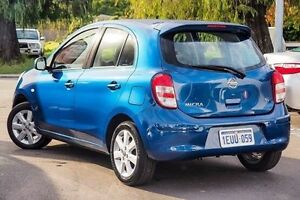 2014 Nissan Micra K13 MY13 TI Blue 4 Speed Automatic Hatchback Glendalough Stirling Area Preview