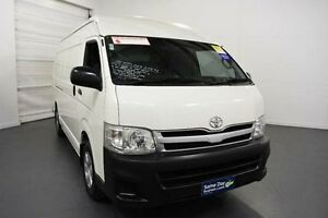 2011 Toyota Hiace TRH221R MY11 High Roof Super LWB White Solid Manual Van Moorabbin Kingston Area Preview