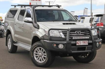 2013 Toyota Hilux KUN26R MY14 SR5 Double Cab Silver 5 Speed Automatic Utility Monkland Gympie Area Preview