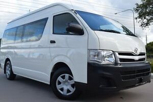 2012 Toyota Hiace KDH223R MY12 Commuter High Roof Super LWB French Vanilla 5 Speed Manual Bus Noosaville Noosa Area Preview