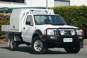 2010 Nissan Navara D22 MY2010 DX White 5 Speed Manual Cab Chassis Acacia Ridge Brisbane South West Preview