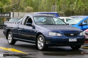 2004 Ford Falcon BA Mk II XLS Ute Super Cab Blue 4 Speed Sports Automatic Utility Ringwood East Maroondah Area Preview